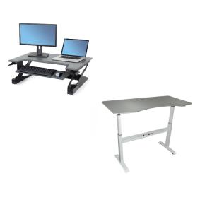 שולחנות ועמדות מחשב ארגונומיים ישיבה ועמידה SIT&STAND